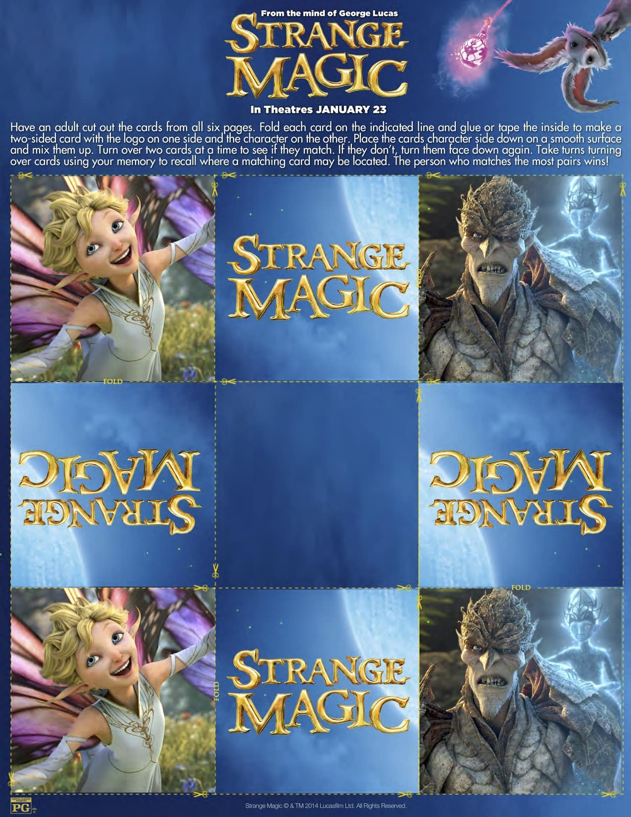 Strange Magic Activity Sheet