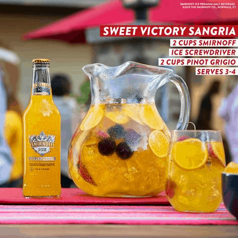 Sweet Victory Sangria - Game Day Cocktails