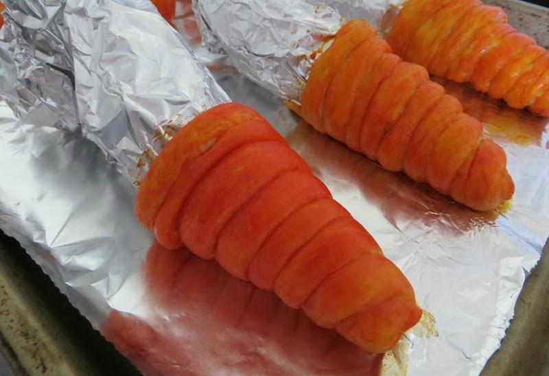 Egg Salad Stuffed Crescent Carrots: SO CUTE!!