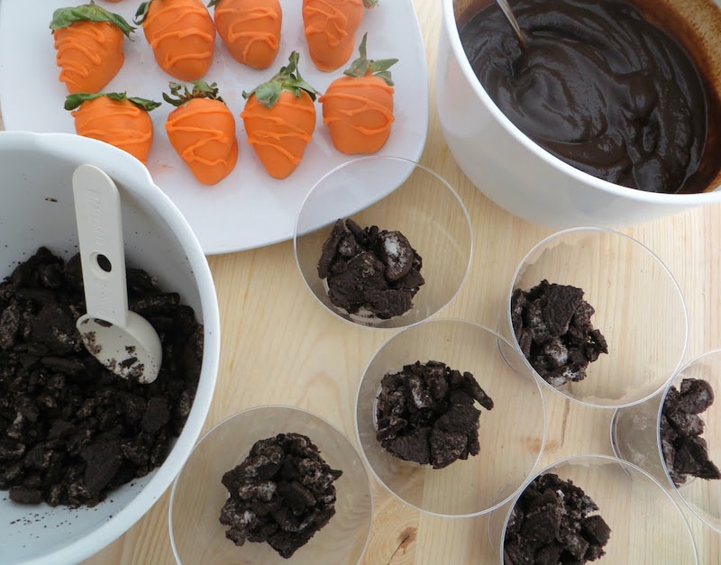oreo and pudding dessert idea for Easter