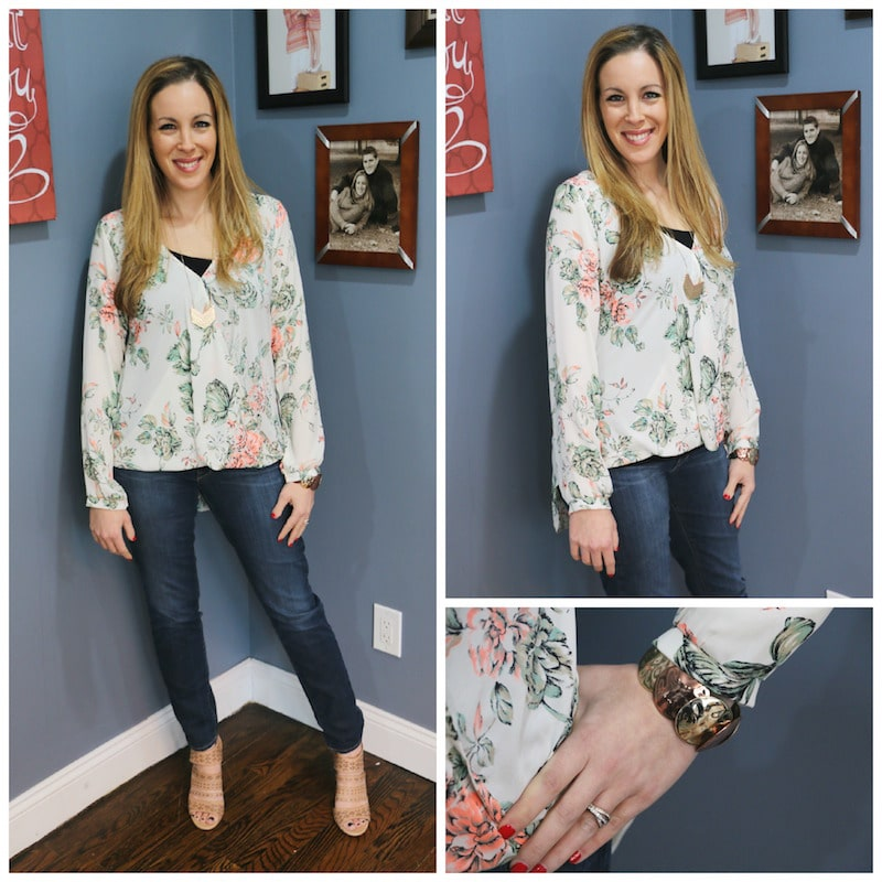 What She Wore: Necessary Clothing Winter Bloom Blouse