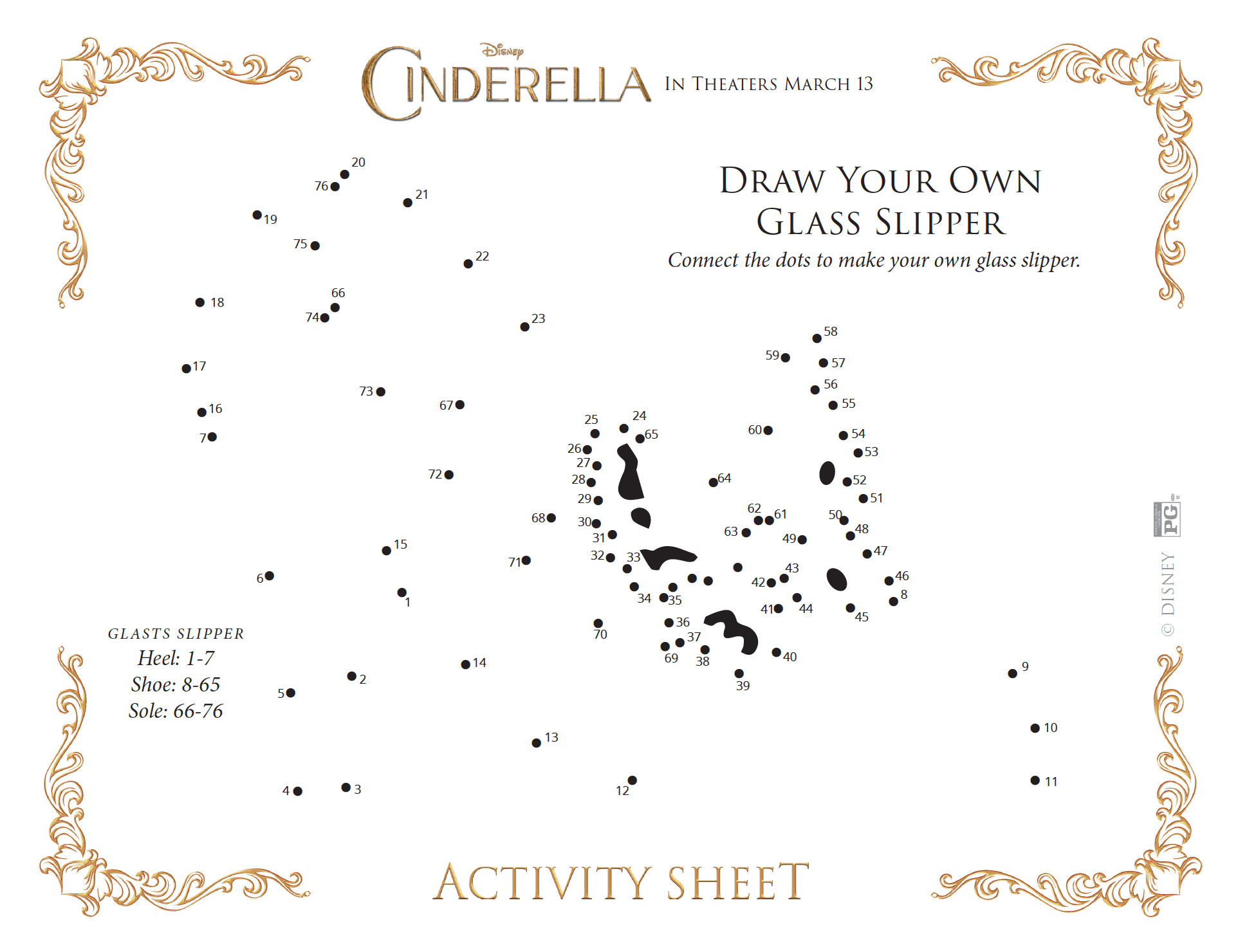 Cinderella Draw Your Glass Slipper