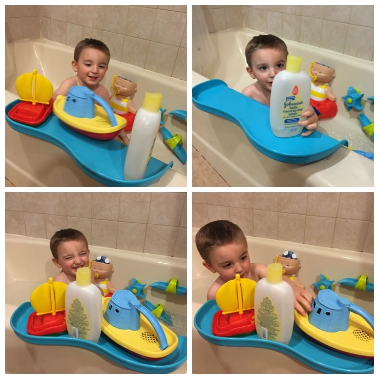 Shelfie: The Bathtub Tray for Safer Play! - Lady and the Blog