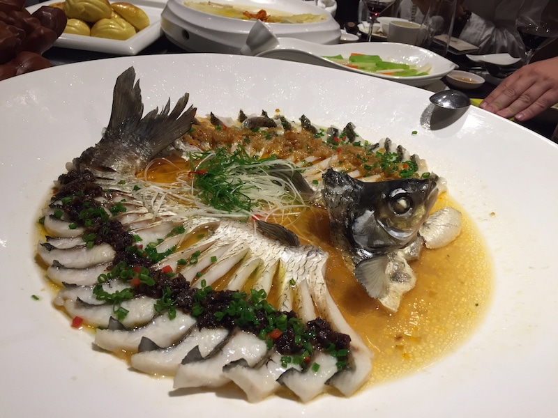 whole fish for dinner in China