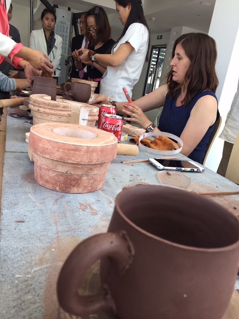 Making pottery during a class in China - Cultural Immersion