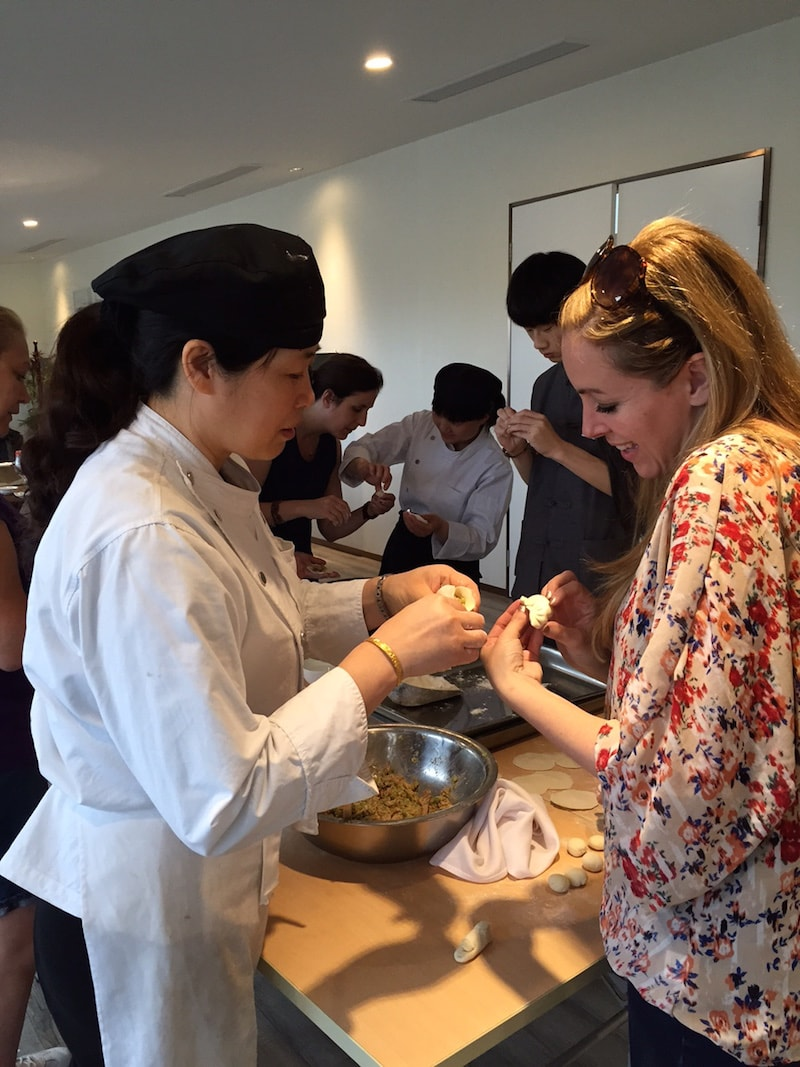 Making dumplings during a class in China - Cultural Immersion
