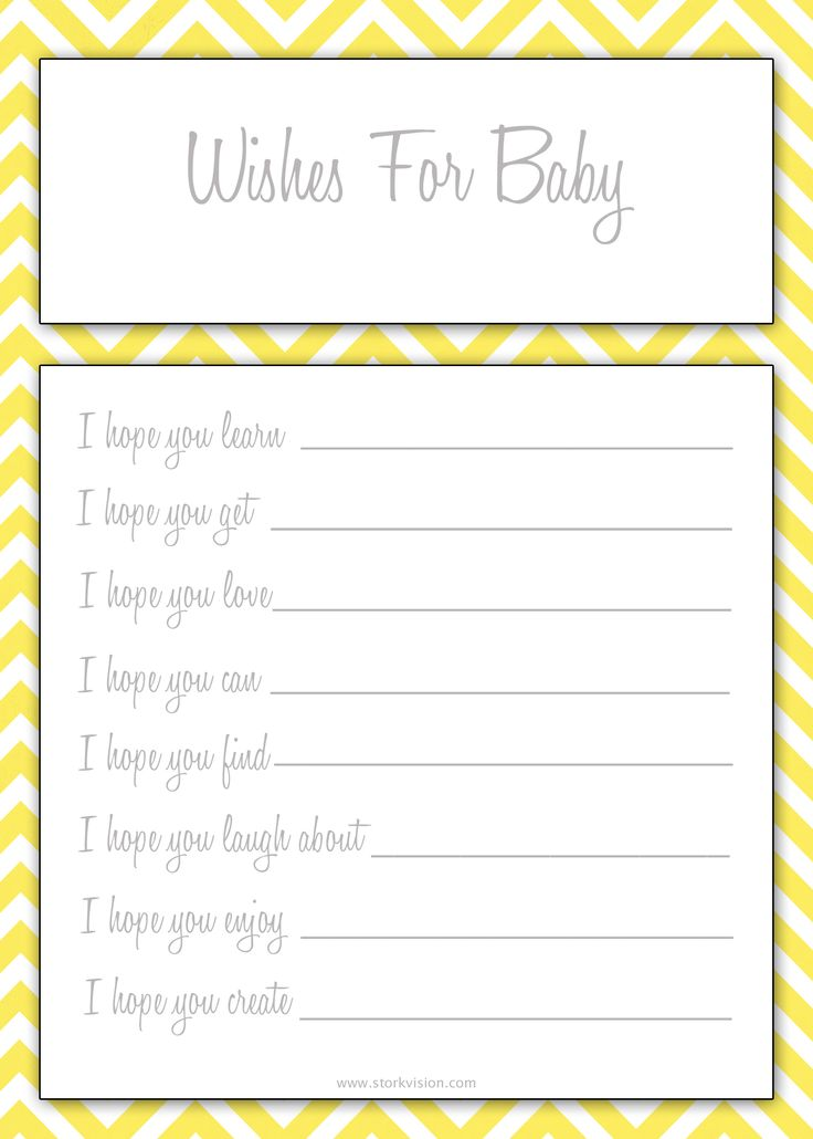 graphic about Wishes for Baby Free Printable known as 6 Totally free Printable Child Shower Online games