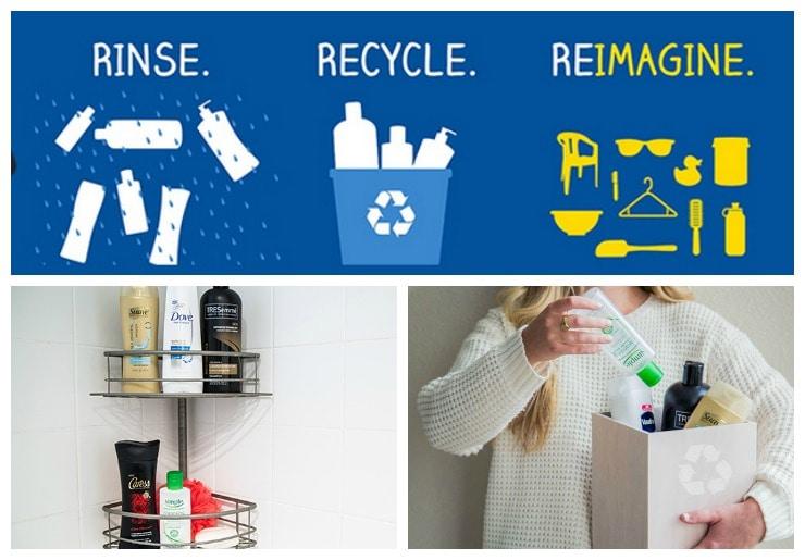 Unilever Rinse Recycle Reimagine Collage