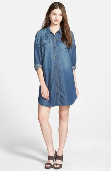 Women's Two by Vince Camuto Soft Denim Shirtdress