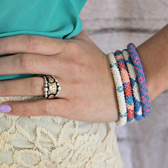 Handmade Nepal Beaded Roll-on Bracelets - 33 Styles!