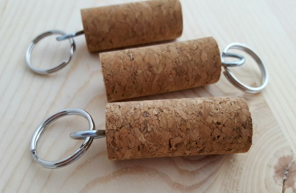 easy wine cork keychains craft