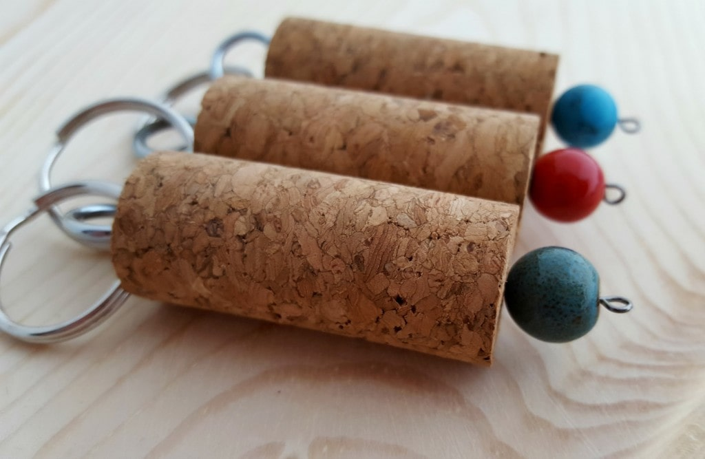 DIY Wine And Cork Keychain