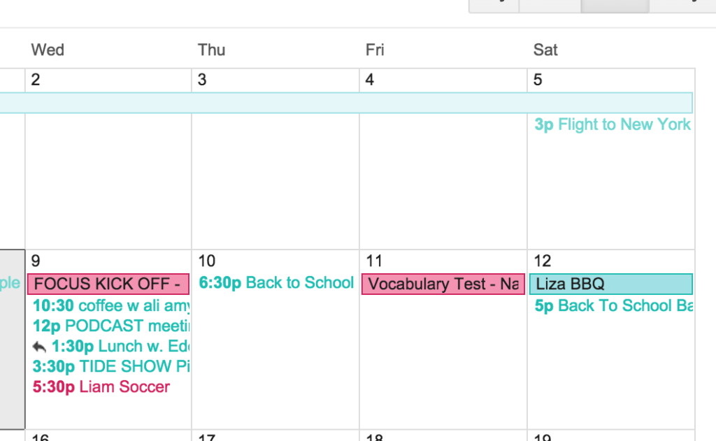 Back To School Tip Google Calendar