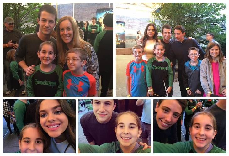 Goosebumps Cast Meet & Greet ROB LETTERMAN, and the cast, DYLAN MINNETTE, ODEYA RUSH, and RYAN LEE