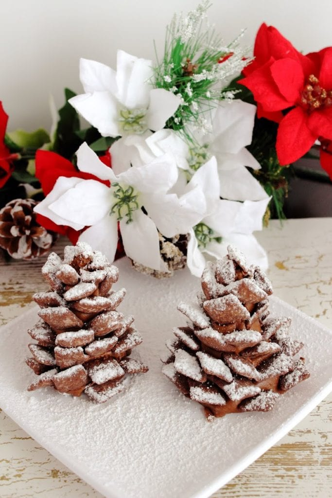 Peanut Butter Chocolate Pine Cones