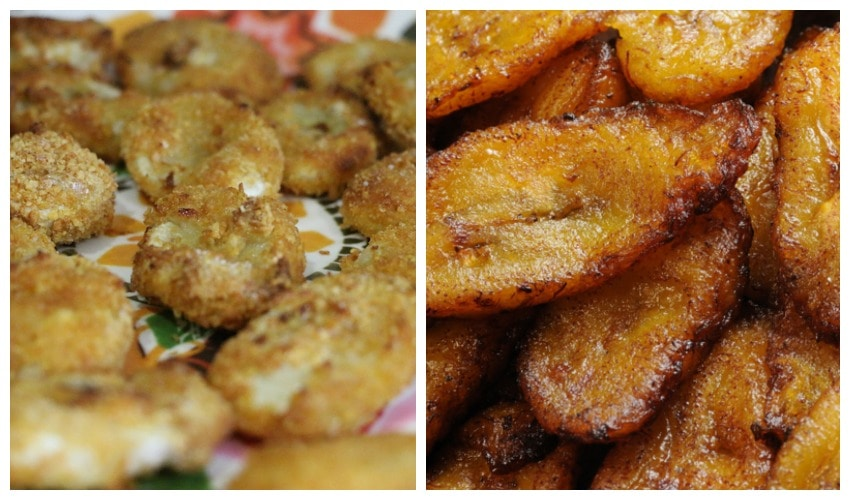 De'longhi MultiFry Fried Bananas Collage