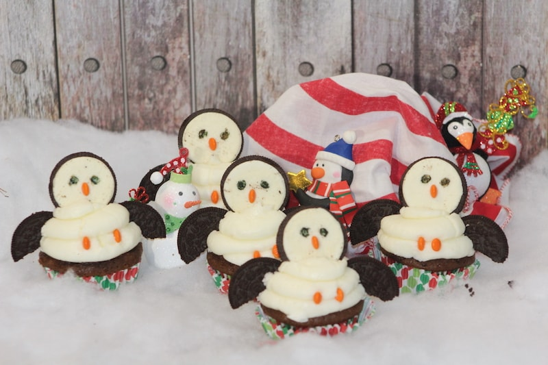 Penguin Cupcakes Made With Oreos