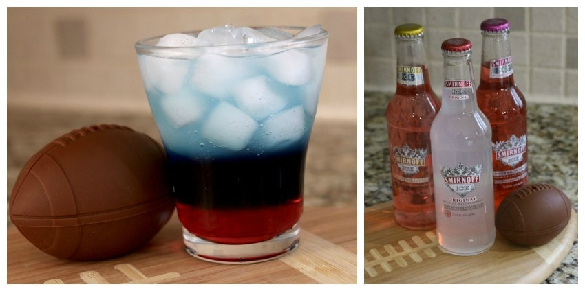 NY Football Red, White, Blue Smirnoof Ice Drink Collage
