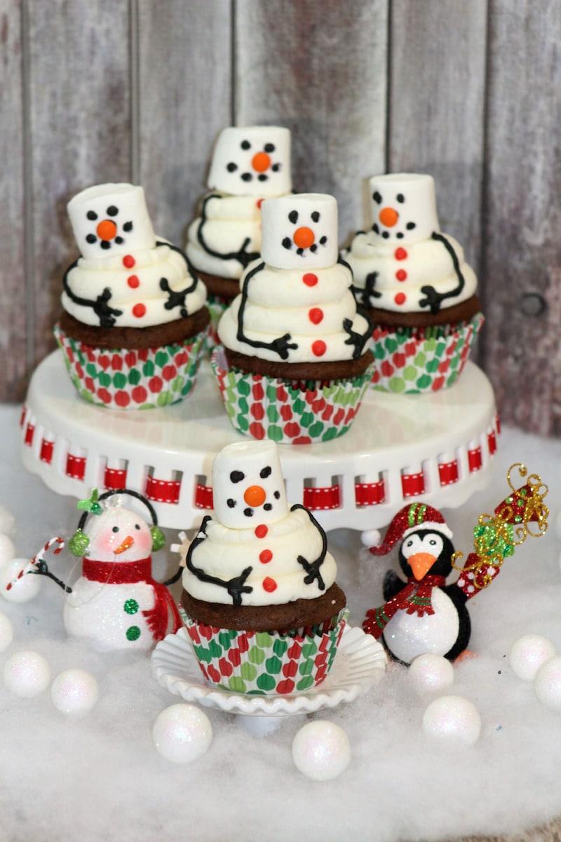 Snowman Cupcake 4-1