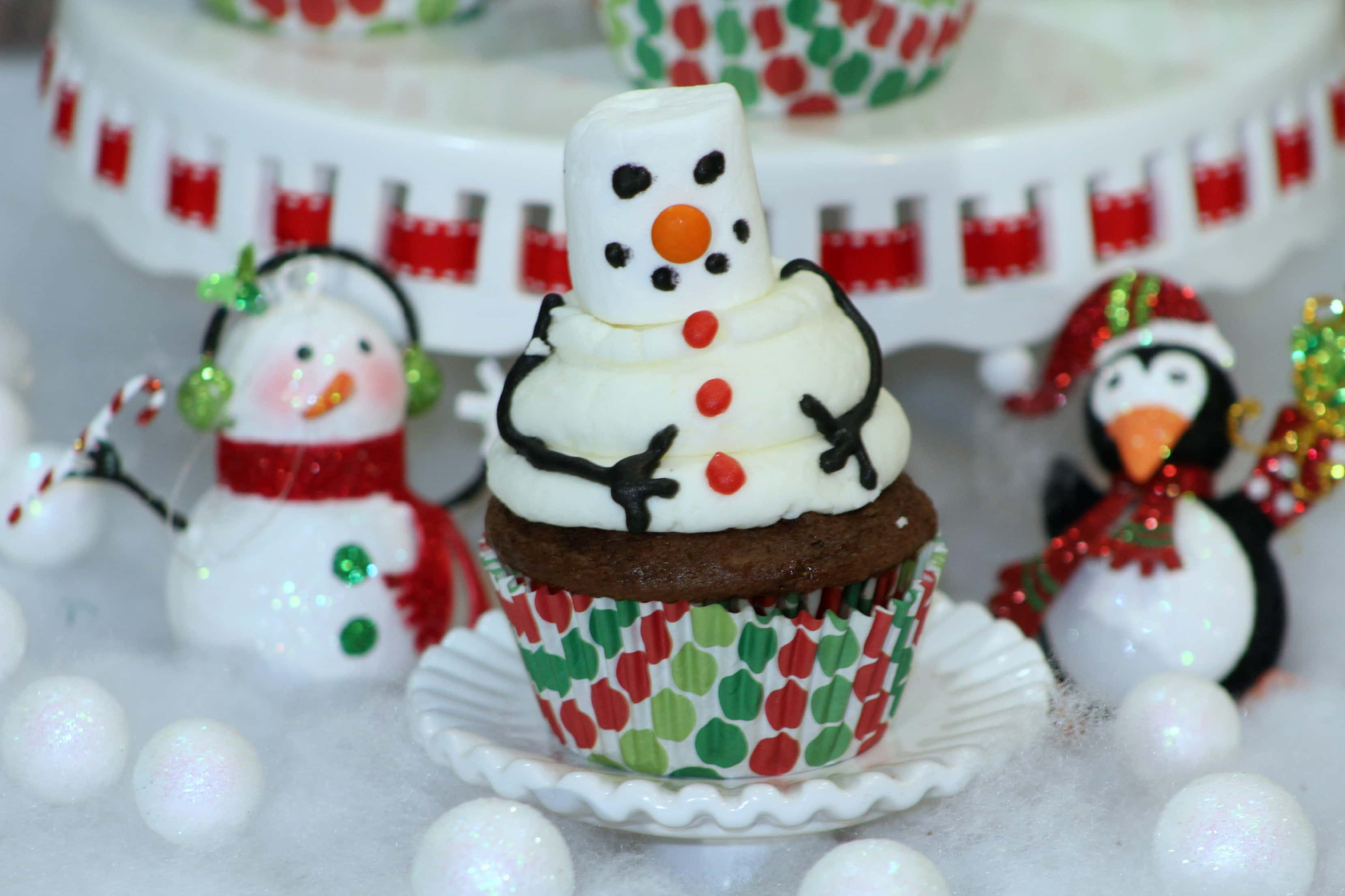 Snowman Cupcake 4-4