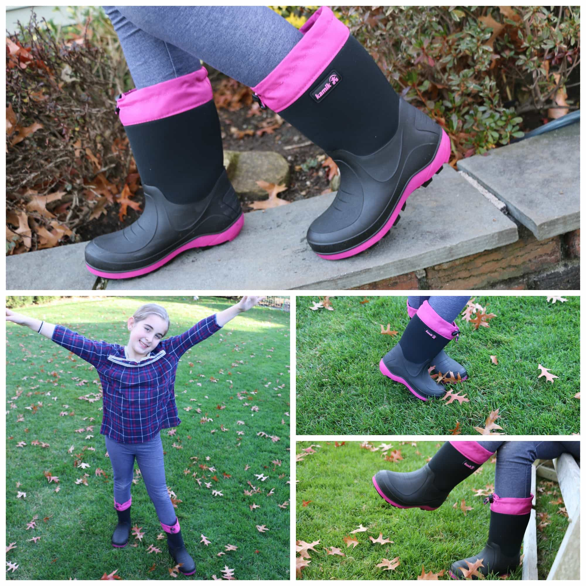 Kamik Rain boots are stylish and affordable.