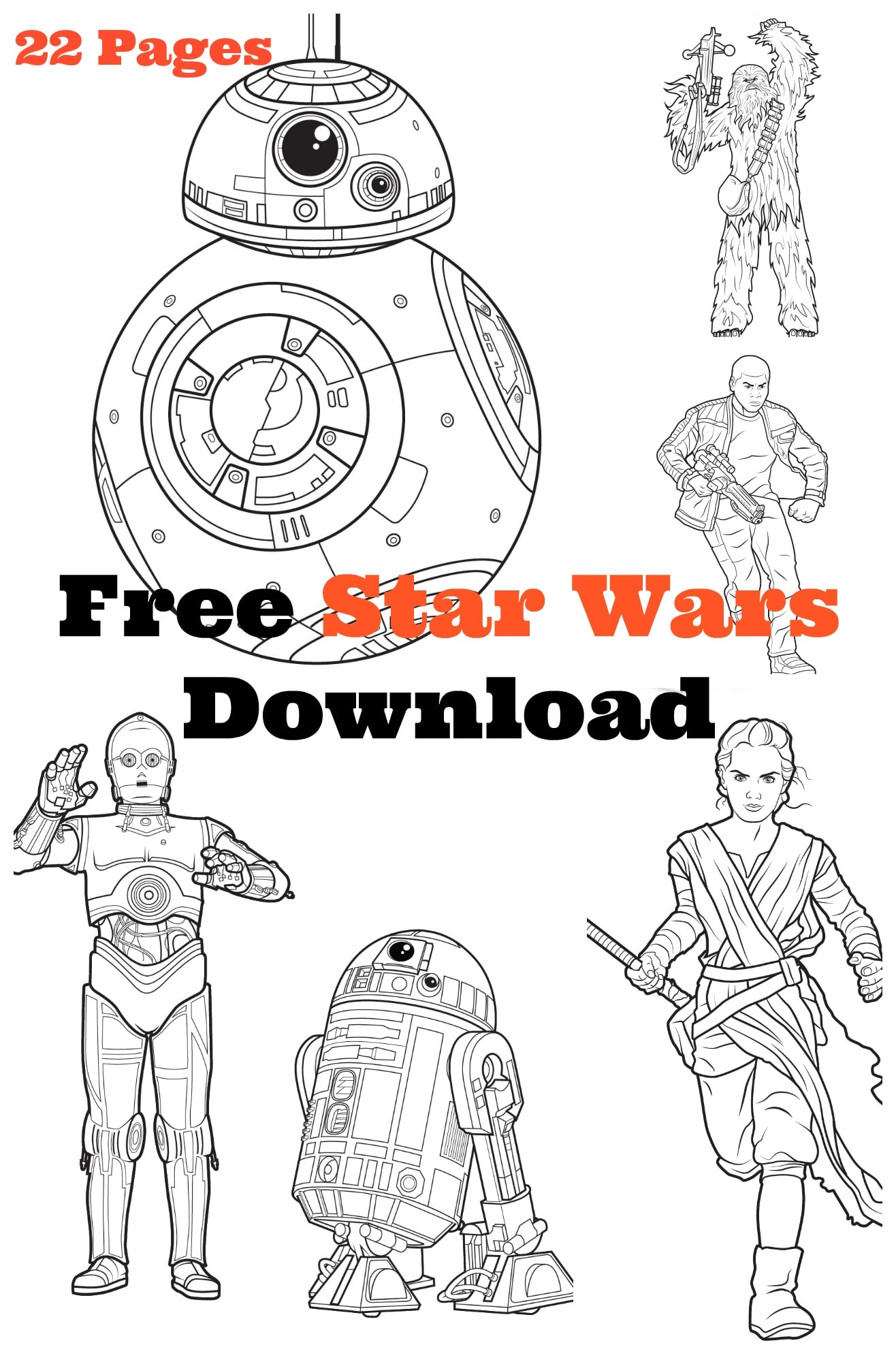 MEGA Star Wars Free Coloring Activity Kit Download