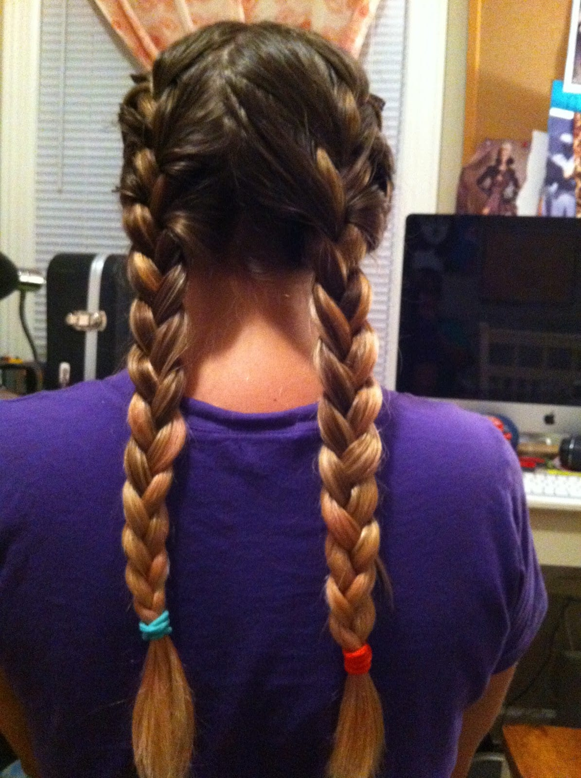 braid daughter's hair