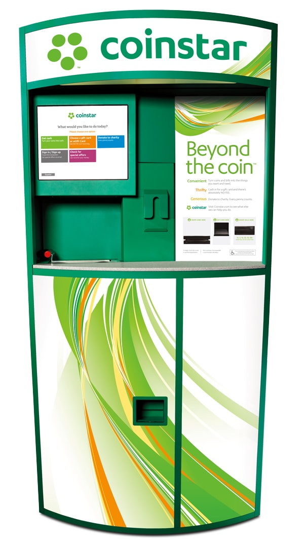 Turn Loose Change and Gift Cards into Cash with Coinstar and Coinstar Exchange