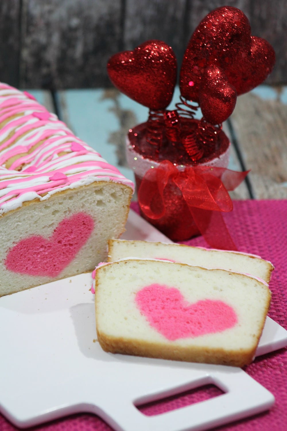 Vanilla Strawberry Loaf Heart Cake Recipe: Perfect For Valentine's Day