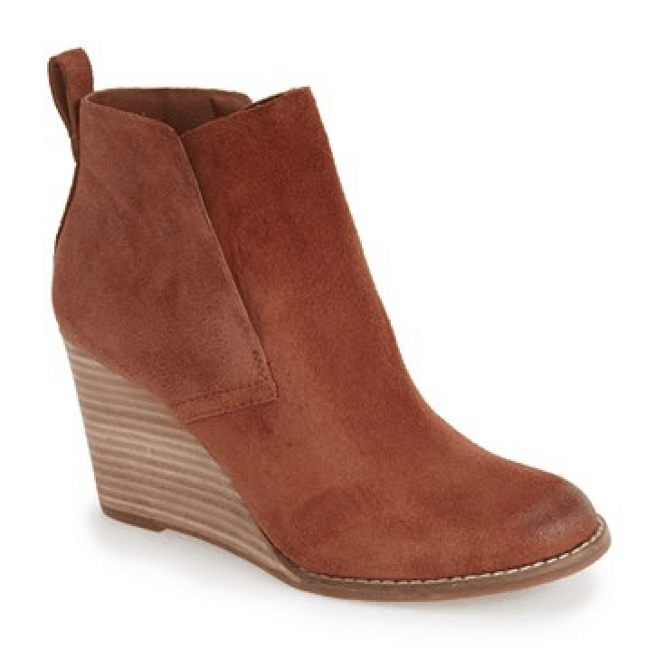 Women's Lucky Brand 'Yoniana' Wedge Bootie