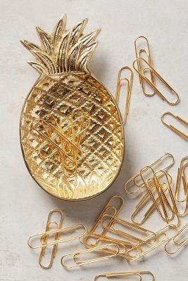 Ananas Trinket Dish & Clips