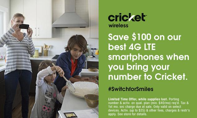 Cricket Wireless #SwitchForSmiles