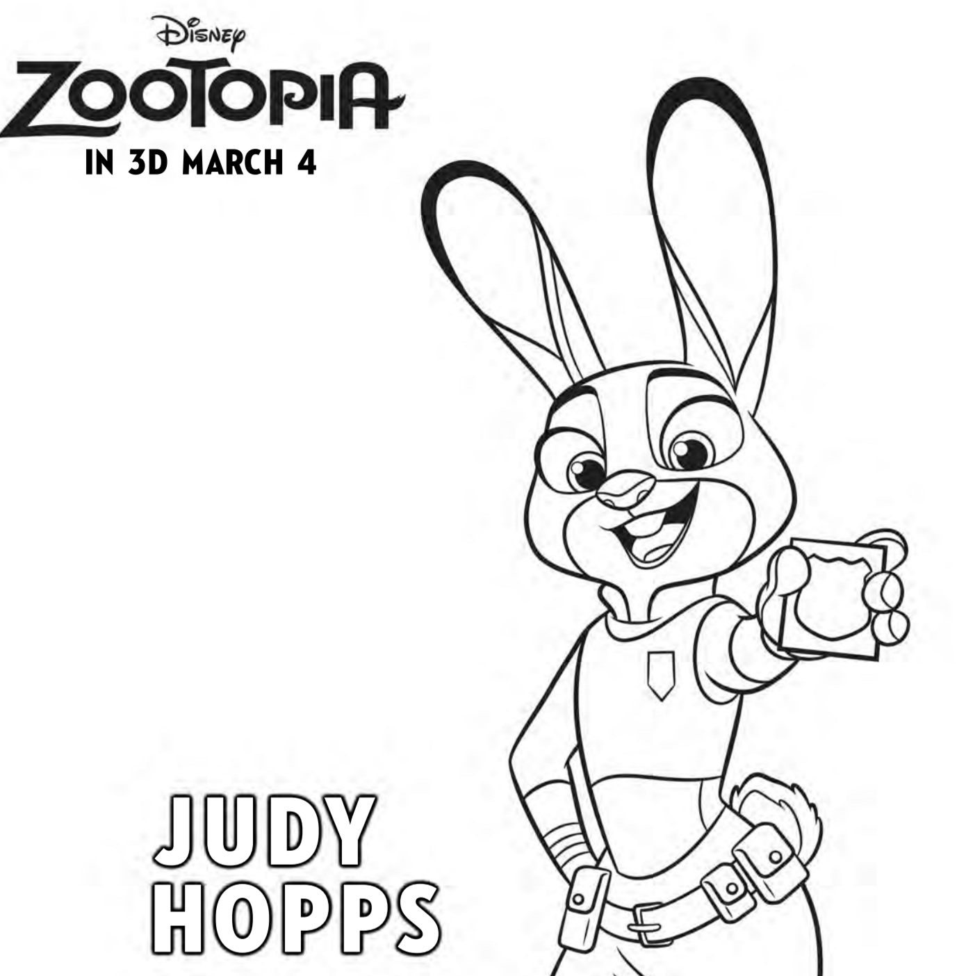 Zootopia Coloring Pages - Free Printables For The Kids ...