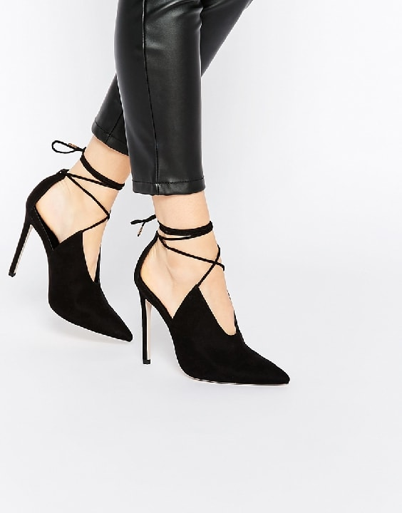 ASOS PROPELLOR Lace Up Pointed Heels