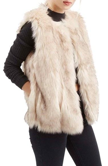 Women's Topshop 'Leah' Faux Fur Vest