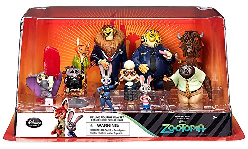 Disney Zootopia Exclusive Deluxe 10 Figure Character Play Set