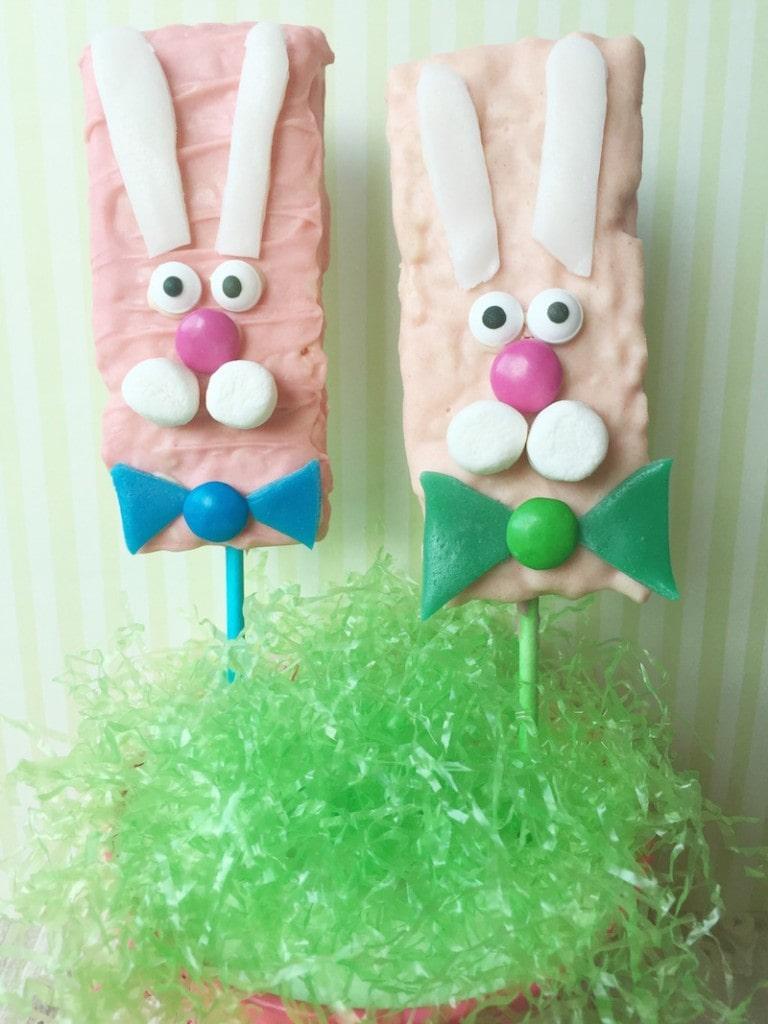 Easter Rice Krispie Treats bunny bars