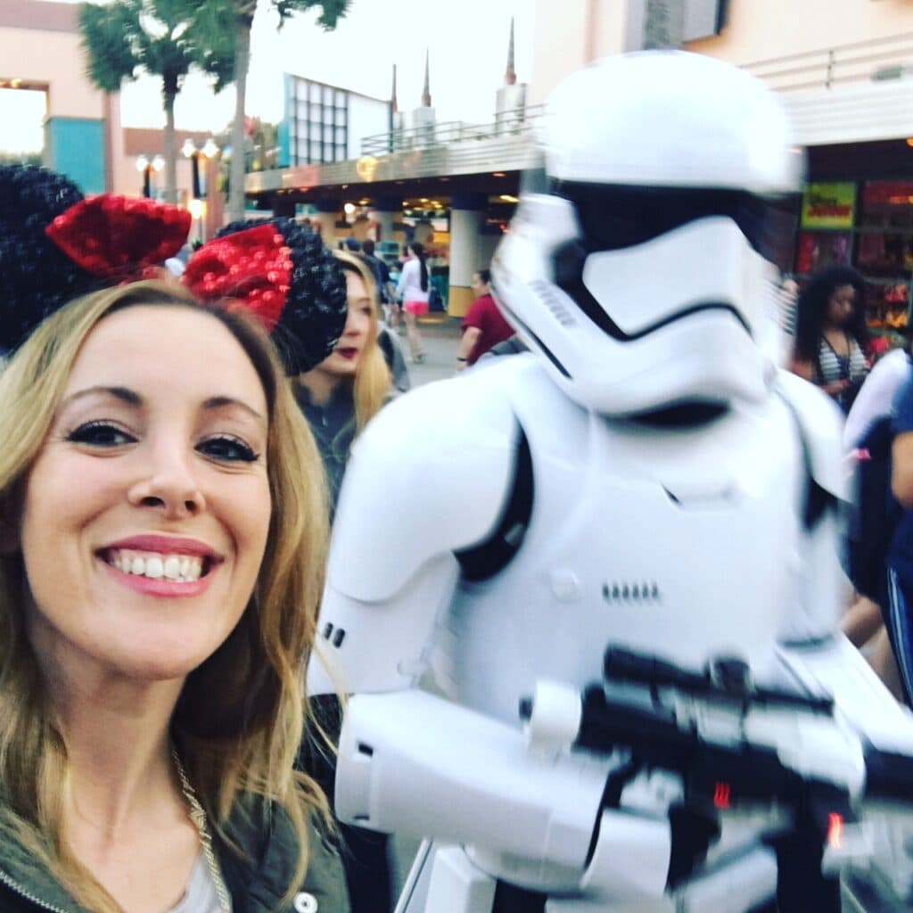 Selfie With A Stormtrooper At Hollywood Studios