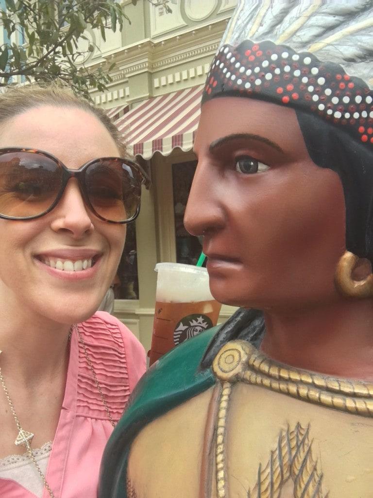 Disney Magic Kingdom Native American Statue Selife