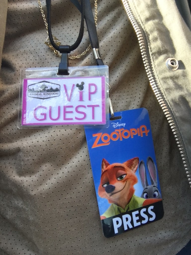 VIP Press Pass At Animal Kingdom
