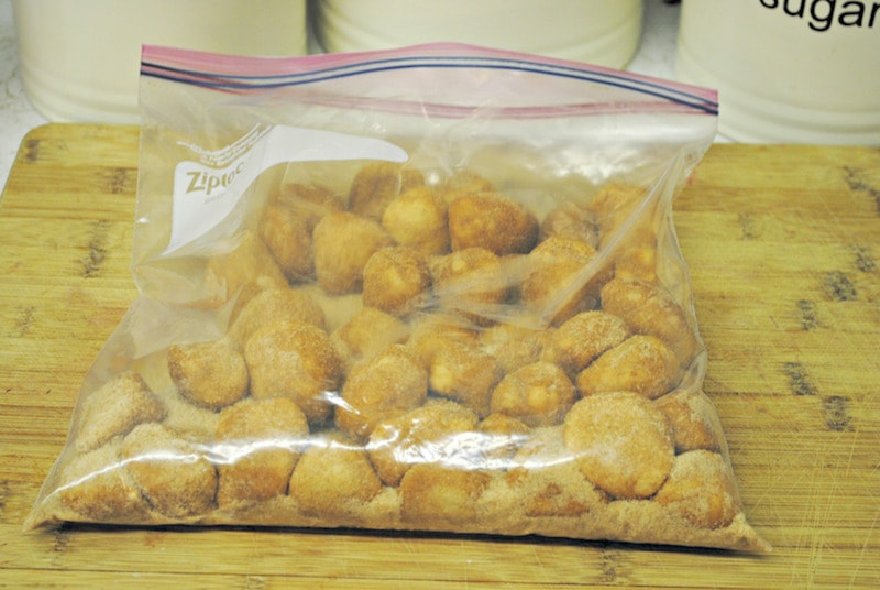ziploc bag with monkey bread
