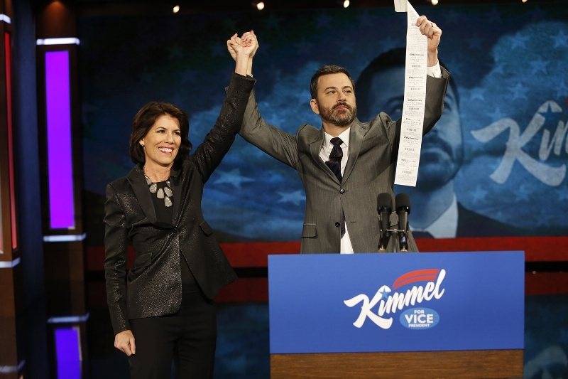 CVS Pharmacy President Helena Foulkes unveiled digital receipts in a surprise appearance on ABC's Jimmy Kimmel Live on Friday evening. (PRNewsFoto/CVS Pharmacy)