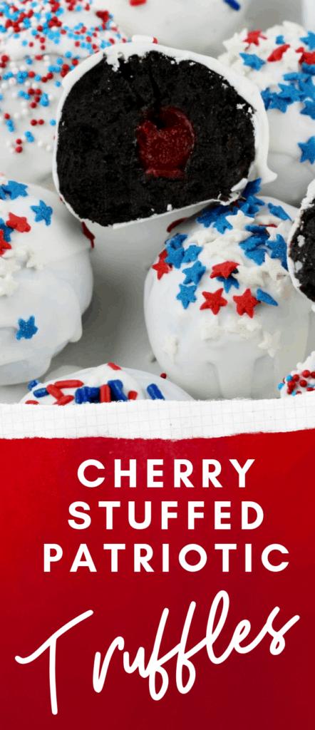 Cherry Stuffed Oreo Truffles
