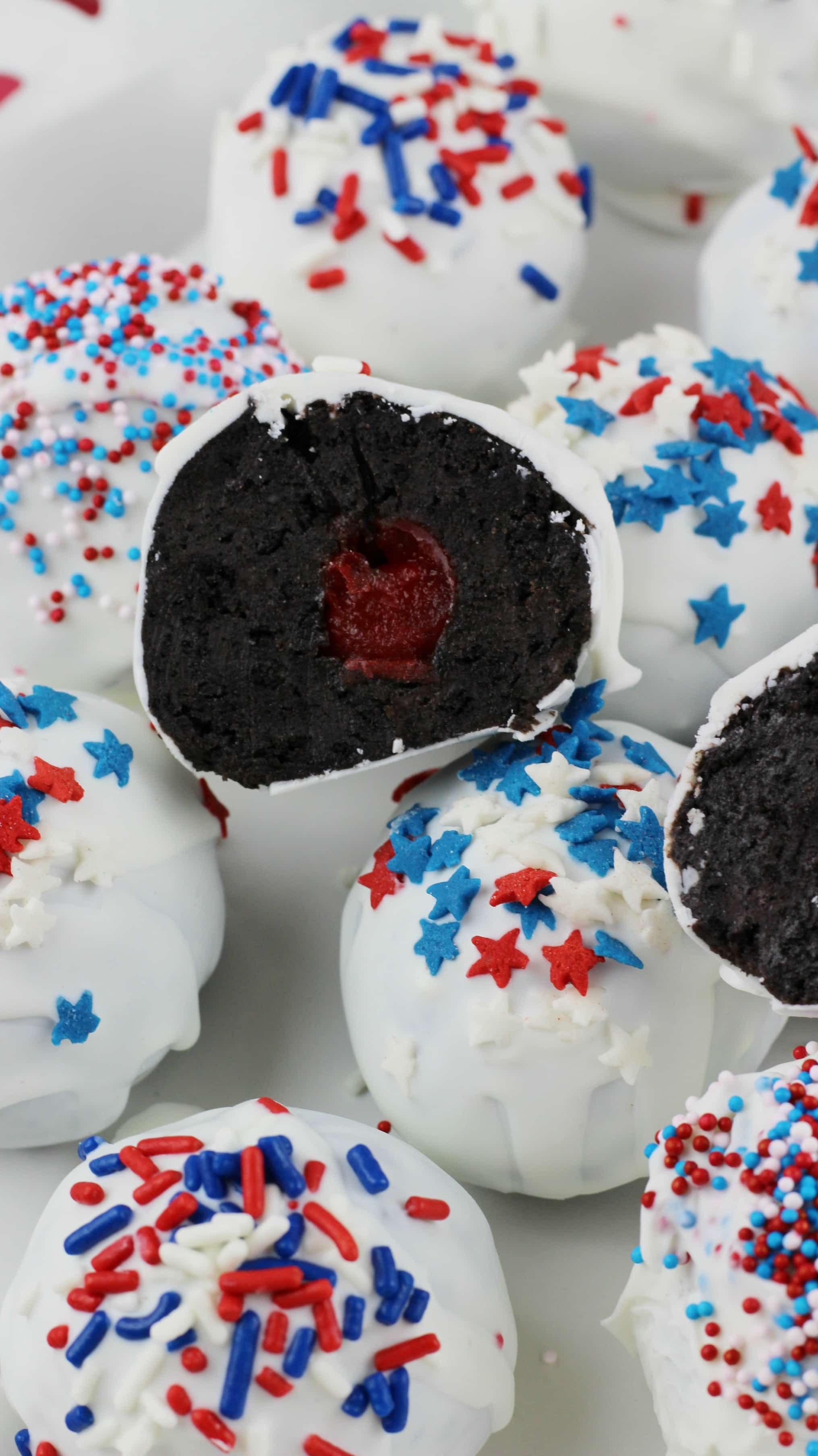Cherry Stuffed Oreos Patriotic Recipe Lady And The Blog