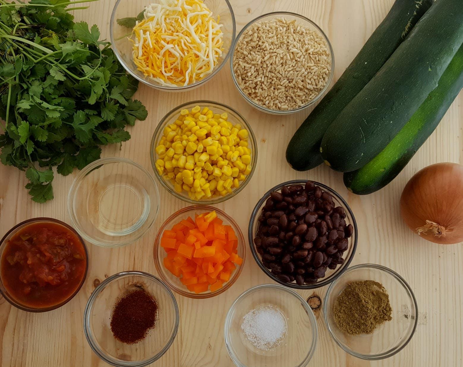 zucchini boats ingredients