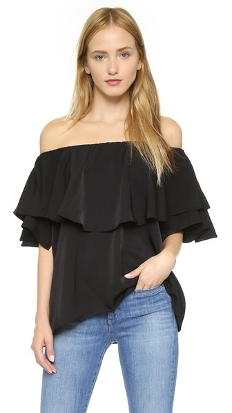 Off the shoulder look for the summer