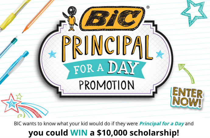 Bic Principal For A Day Contest Graphic