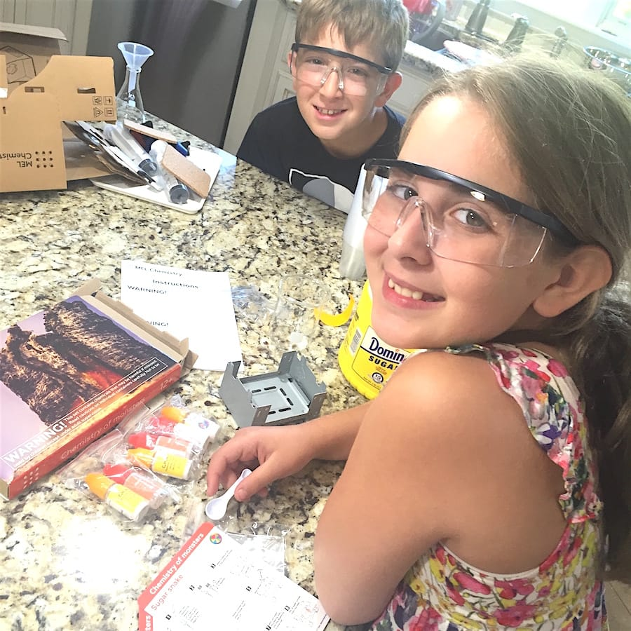 kids using a science kit