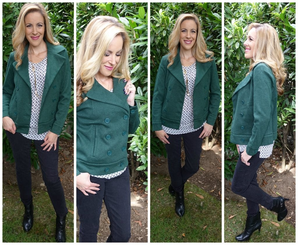 Cabi Sweater Pea Coat in green