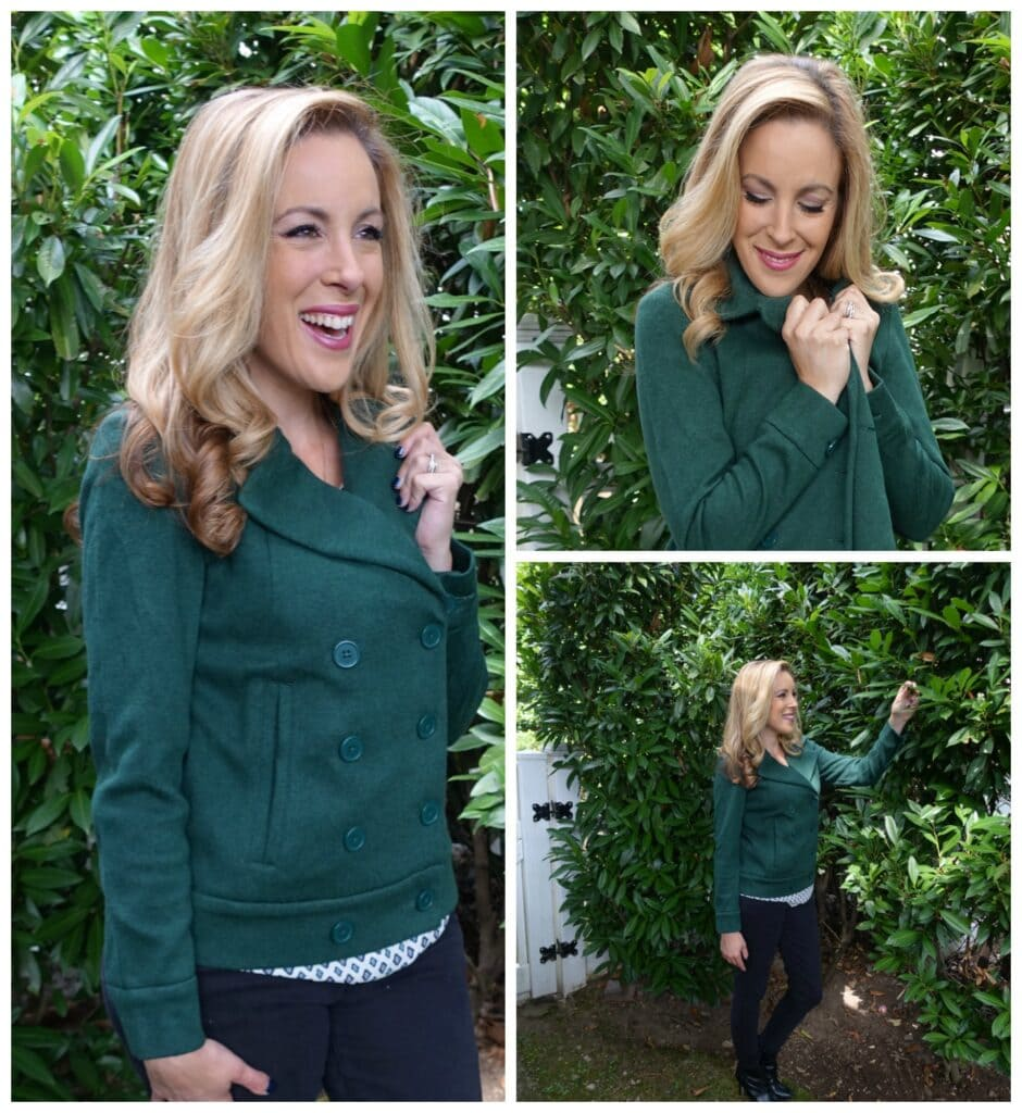 Cabi Sweater Pea Coat is a great way to wear your jacket as a layer in the Fall